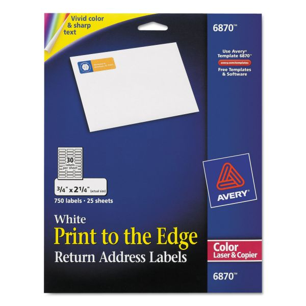 Avery Print To The Edge Return Address Labels