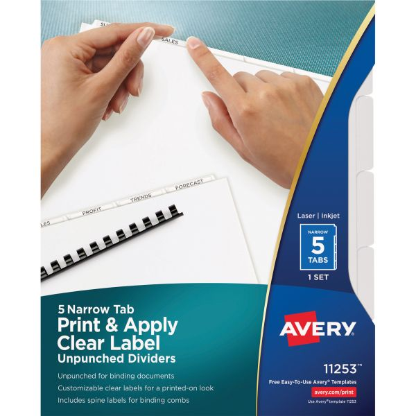Avery Index Maker Narrow Tab Dividers