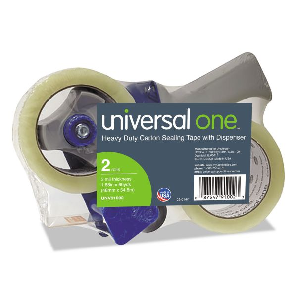 Universal One Heavy Duty Packing Tape with Dispenser
