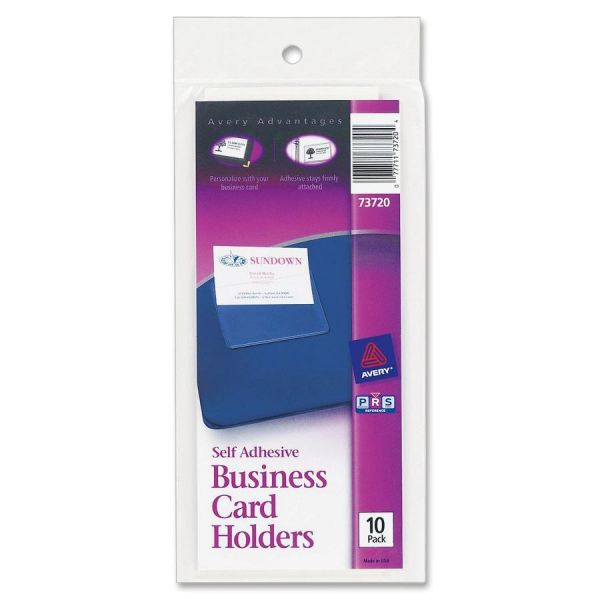 Avery Self-Adhesive Business Card Holders