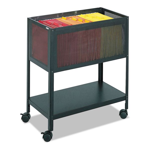 Safco Steel Mesh Open Top Tub File, 13-1/2w x 24-1/4d x 27-1/2h, Black