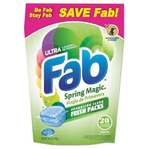 Fab Ultra Fresh Packs Laundry Detergent
