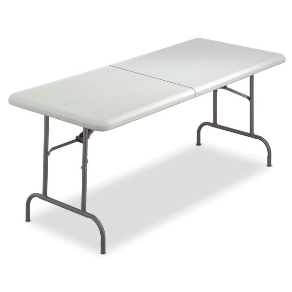 Iceberg IndestrucTable Too Rectangular Bi-Fold Folding Table