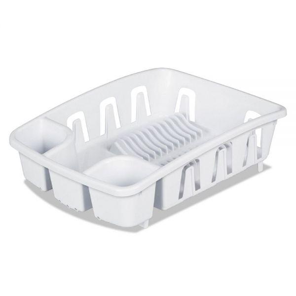 Office Settings Drain Rack, White, Plastic, 5 3/8 x 17 5/8 x 3