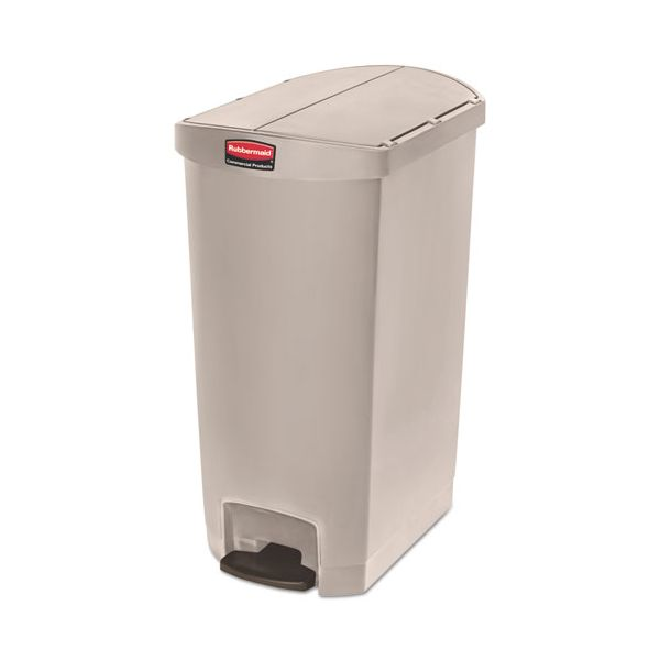 Rubbermaid Step-On Slim Jim 18 Gallon Trash Can With Lid