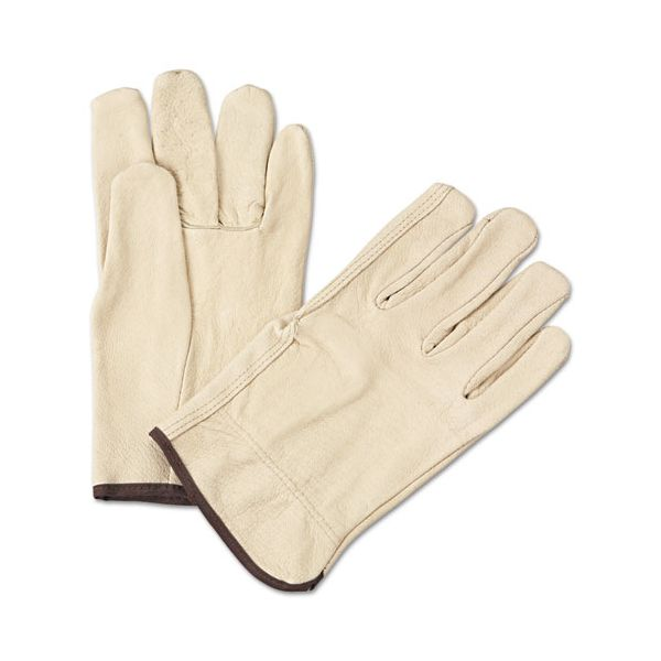 Anchor Brand 4000 Series Pigskin Leather Driver Gloves, Large, Yellow, 12 Pairs