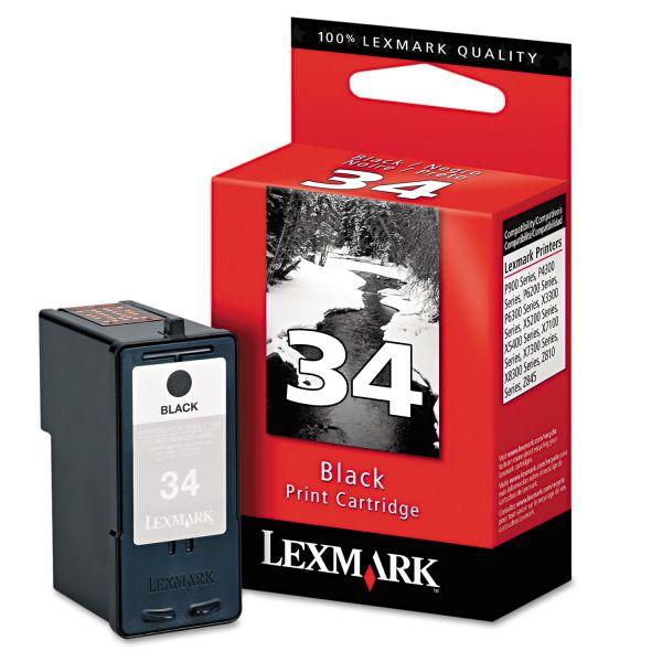 Lexmark #34 Black Ink Cartridge