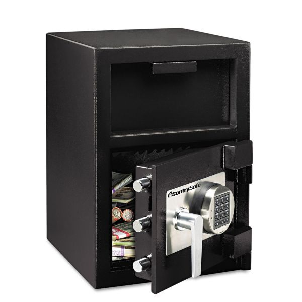Sentry Safe Digital Depository Safe, Extra Large, 1.09 ft3, 14w x 15 3/5d x 24h, Black