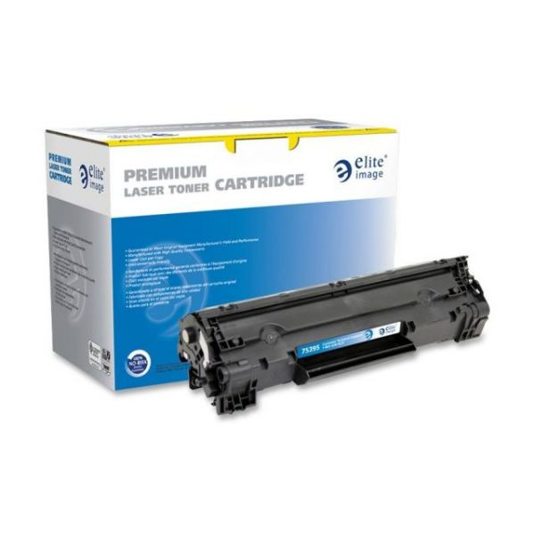 Elite Image Remanufactured HP 36A Black Toner Cartridge