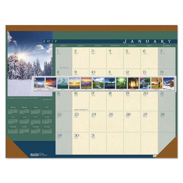 House of Doolittle Landscapes Monthly Desk Pad Calendar