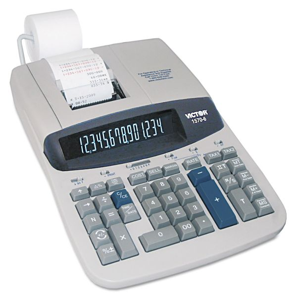 Victor 1570-6 Professional Heavy Duty Commercial Printing Calculator with Financial/Loan Calculations