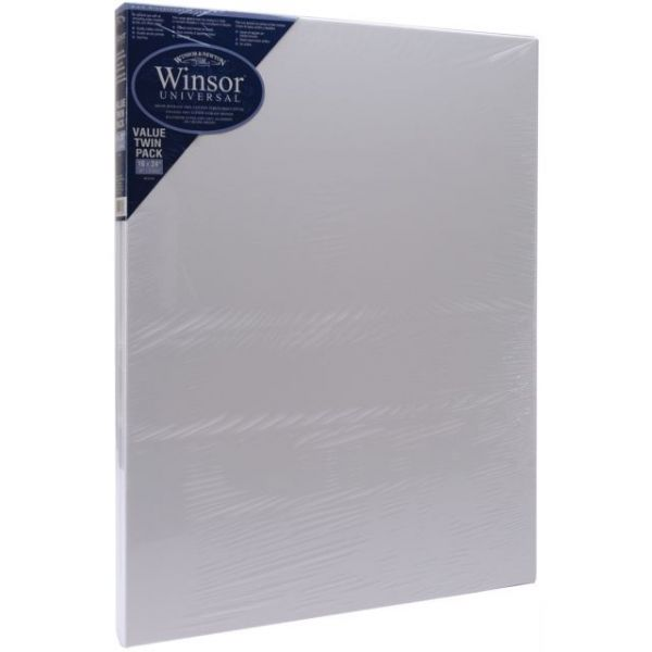 Universal Stretched Canvas Twin Pack 2/Pkg