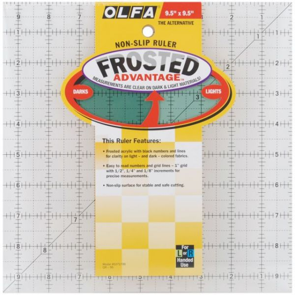 "OLFA Frosted Advantage Non-Slip Ruler ""The Alternative"""