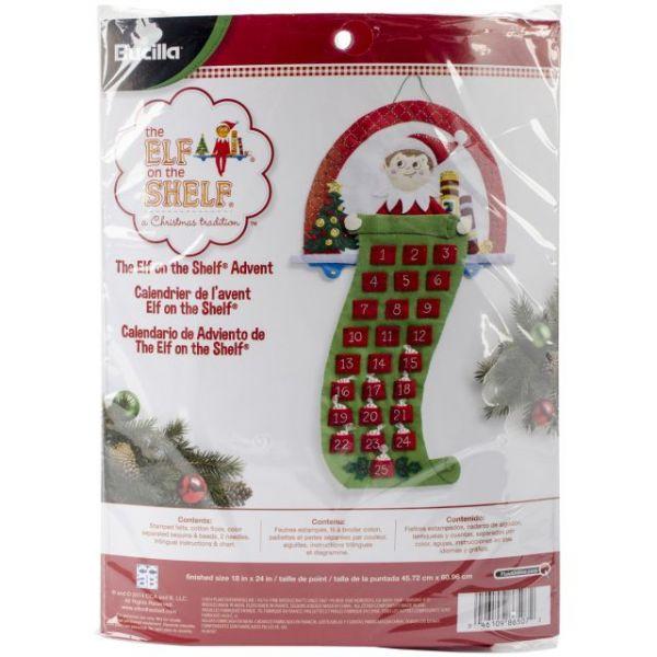 Elf On The Shelf Scout Elf Advent Calendar Felt Applique Kit