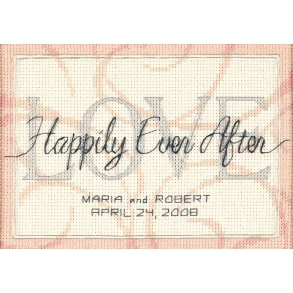 Dimensions Happily Ever After Wedding Record Mini Counted Cross Stitch