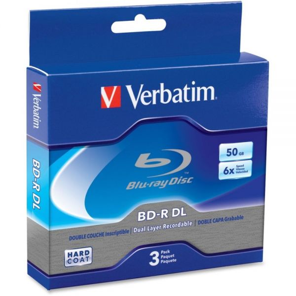 Verbatim Blu-ray Recordable Media With Jewel Cases