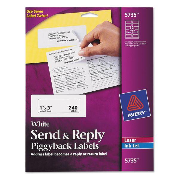 Avery Send & Reply Piggyback Address Labels