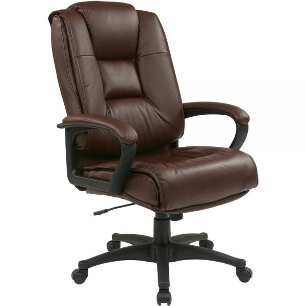 Office Star EX5162 Deluxe High Back Executive Leather Chair