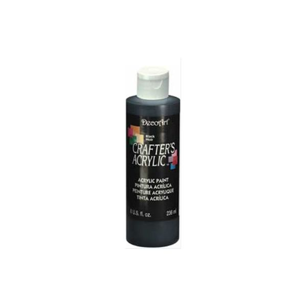 Deco Art Crafter's Acrylic Black Acrylic Paint