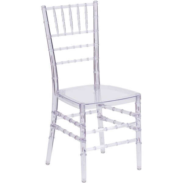 Flash Furniture Elegance Crystal Ice Stacking Chiavari Chair