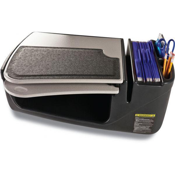 AutoExec GripMaster 01 Auto Desk w/Retractable Writing Surface & Supply Organizer, Gray