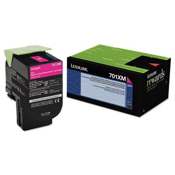 Lexmark 70C1XM0 Magenta Extra High Yield Return Program Toner Cartridge