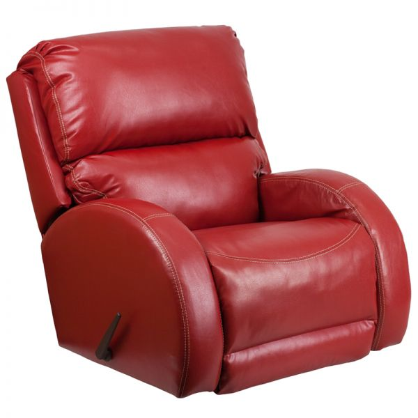 Flash Furniture Contemporary Ty Red Leather Rocker Recliner