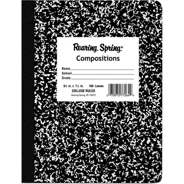 Roaring Spring College Ruled Composition Notebook