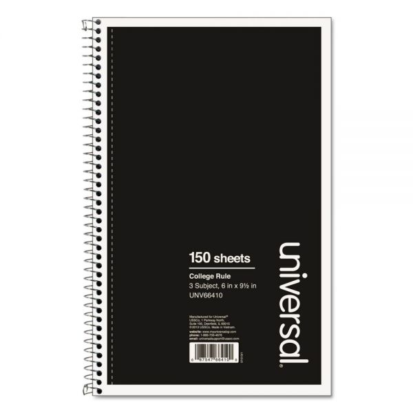 Universal College Ruled Spiral Notebook