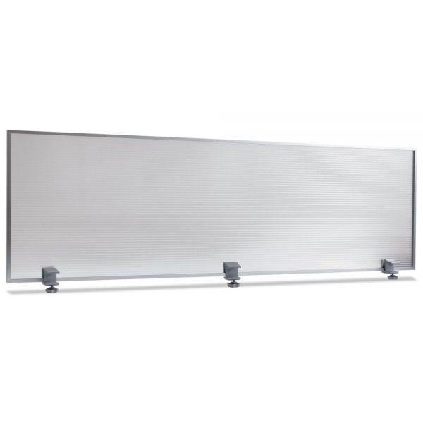 Alera Polycarbonate Privacy Panel, 65w x 18h, Silver