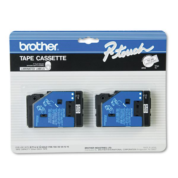 Brother P-Touch Standard Label Tape Cartridge