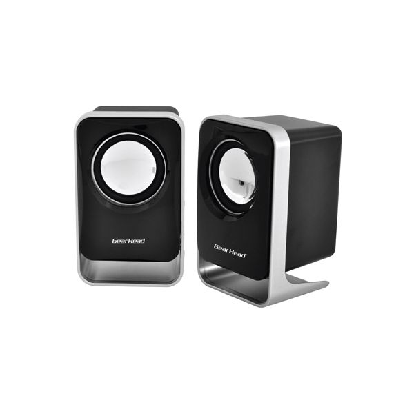 Gear Head SP1500USB 2.0 Speaker System - 3 W RMS - Black, Silver