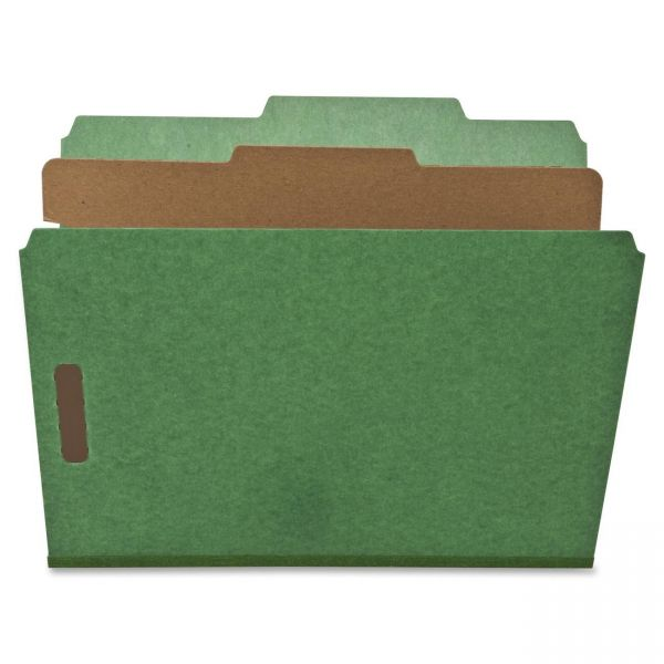 Nature Saver Green 1-Divider Classification Folders