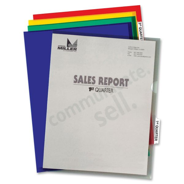 C-Line Project Folders With Index Tabs