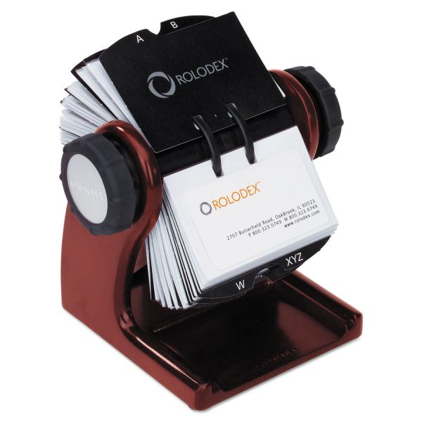 Rolodex Wood Tones Rotary Business Card File