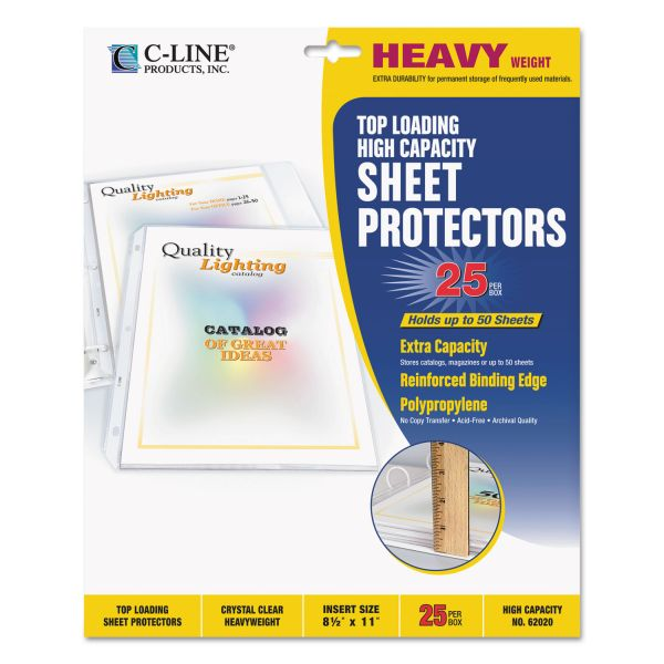 C-Line Top Loading High Capacity Sheet Protectors