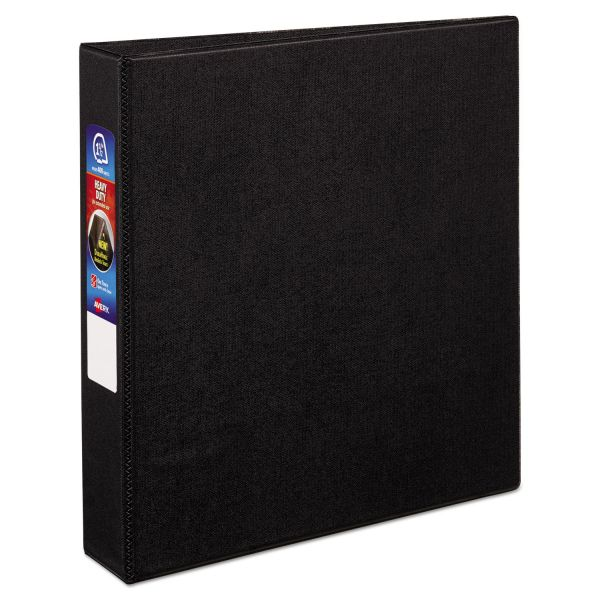 """Avery Heavy-Duty 3-Ring Binder with One Touch EZD Rings, 1 1/2"""" Capacity, Black"""