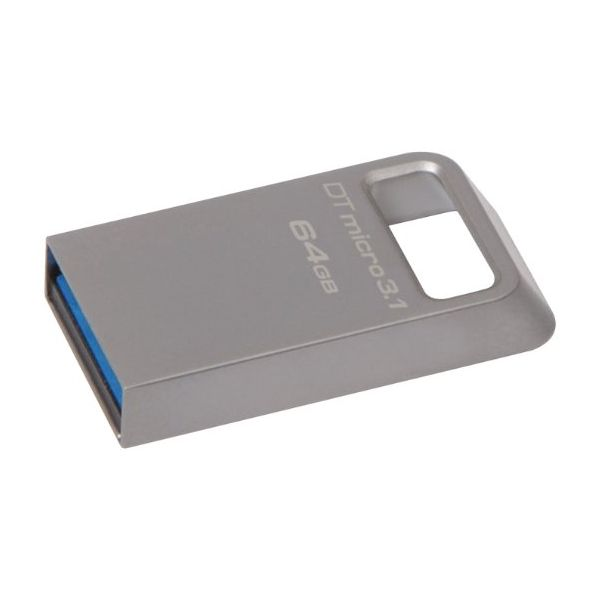 Kingston 128GB DTMicro USB 3.1/3.0 Type-A Metal Ultra-Compact Flash Drive