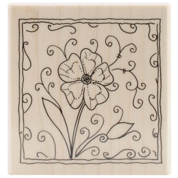 "Penny Black Mounted Rubber Stamp 2.75""X2.75"""