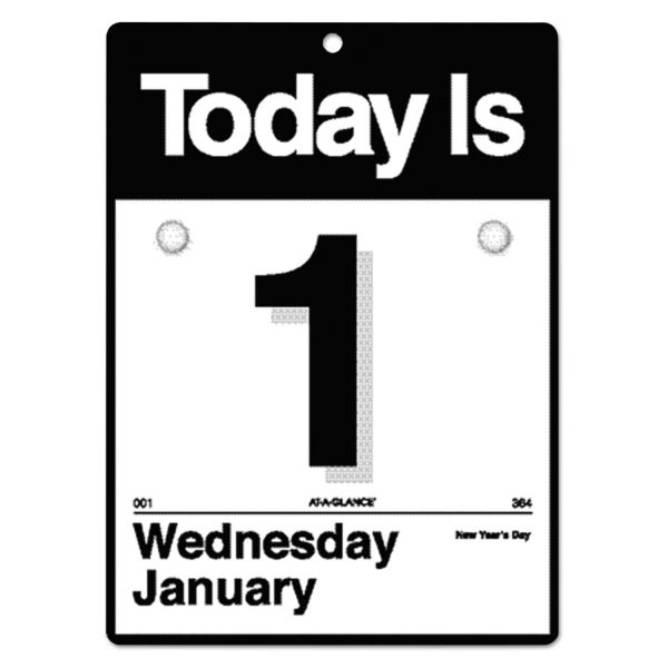 """At-A-Glance """"Today Is"""" Daily Calendar"""