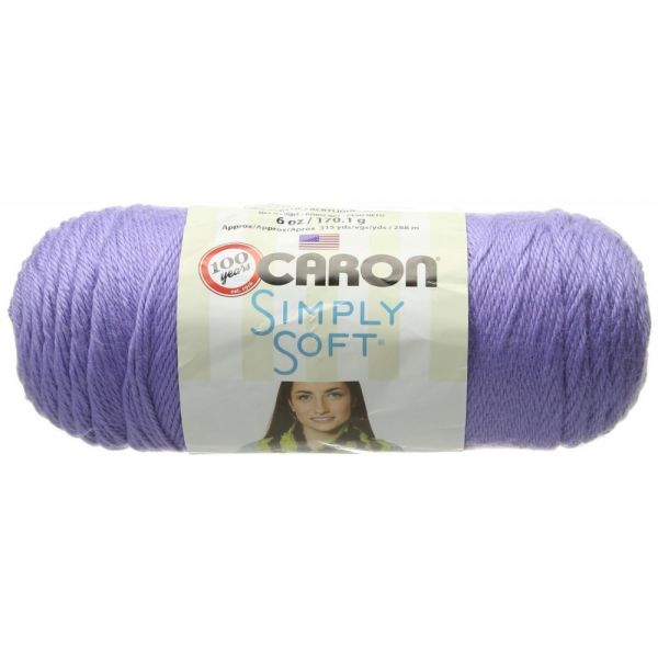 Caron Simply Soft Yarn - Lavender Blue