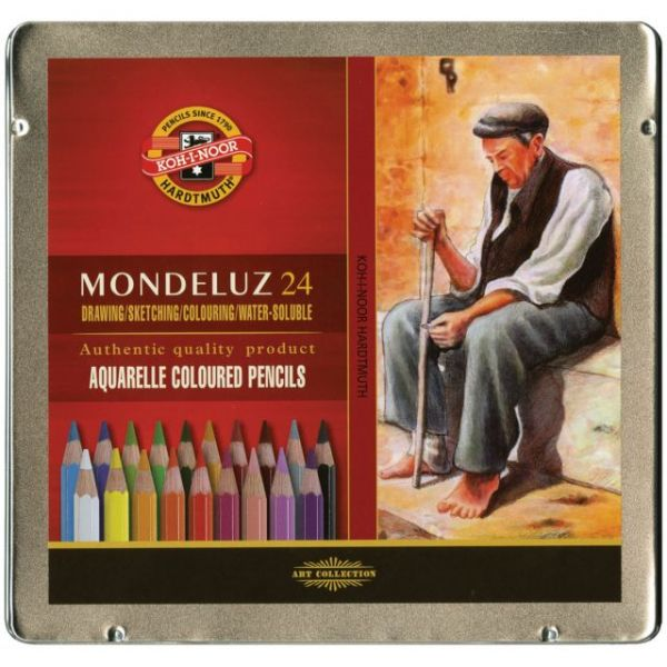 Mondeluz Aquarell Watercolor Pencils 24/Pkg