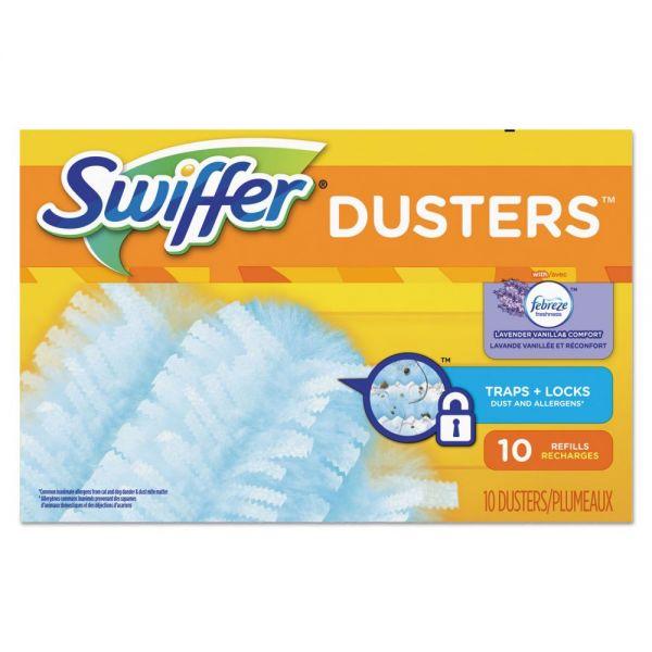 Swiffer Refill Dusters, Dust Lock Fiber, Light Blue, Lavender Vanilla Scent, 10/Box
