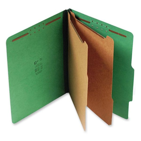 SJ Paper Green Pressboard Classification Folders