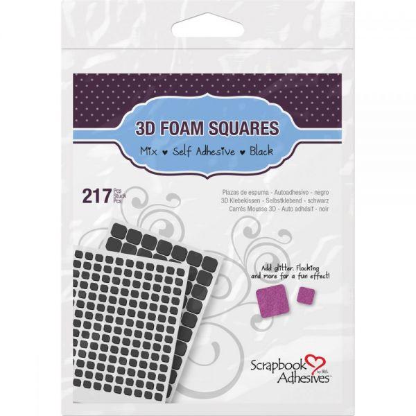 3D Self-Adhesive Foam Squares Variety Pack