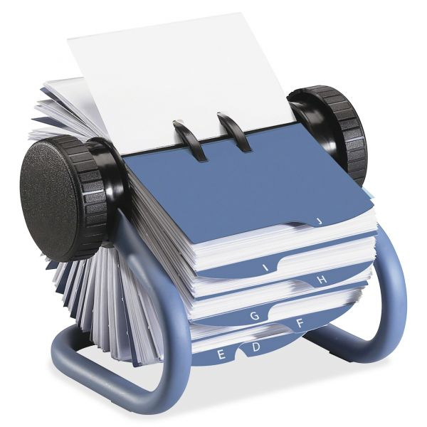 Rolodex Colored Open Rotary Business Card File with 24 Guides