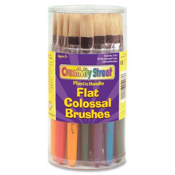Creativity Street Natural Bristle Flat Colossal Brushes