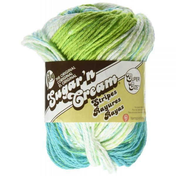 Lily Sugar'n Cream Super Sized Stripes Yarn - Mod