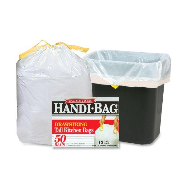 Handi-Bag Drawstring 13 Gallon Trash Bags