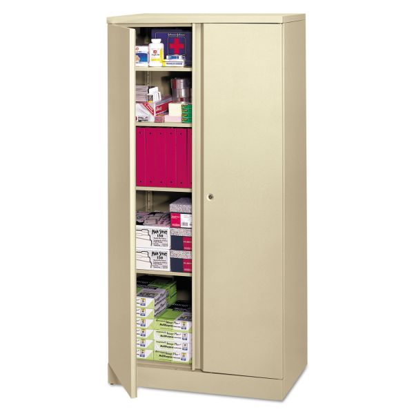 HON Easy-to-Assemble Storage Cabinet, 36w x 18d x 72h, Putty